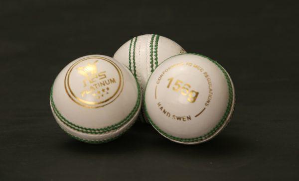 NAS Cricket Ball - Platinum 156g White 100272